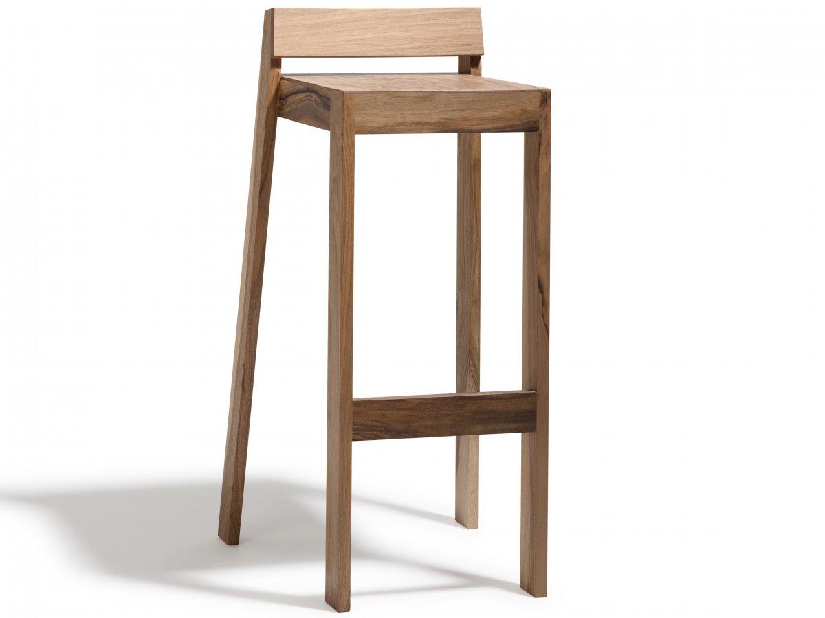 tabouret pilpil en noyer bois et design made in france delavelle. Black Bedroom Furniture Sets. Home Design Ideas