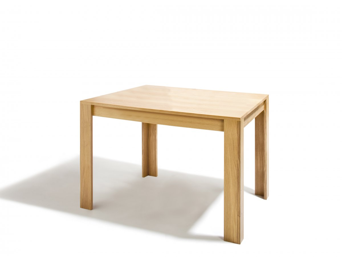 Table elmar carr en ch ne bois et design made in france for Table khi carre