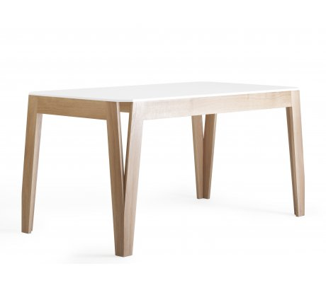 Table MéliMélo rectangle en chêne et Corian ®