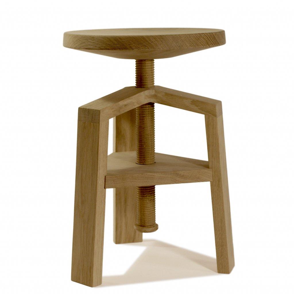 tabouret vis clock 4055 bois et design made in france delavelle. Black Bedroom Furniture Sets. Home Design Ideas