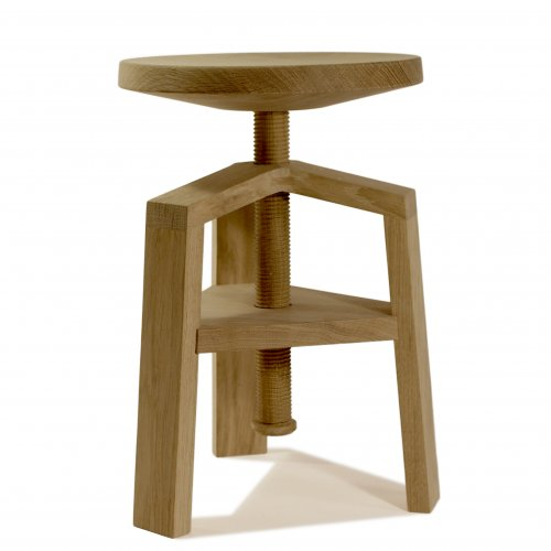 tabouret vis clock 4055 bois et design made in france. Black Bedroom Furniture Sets. Home Design Ideas