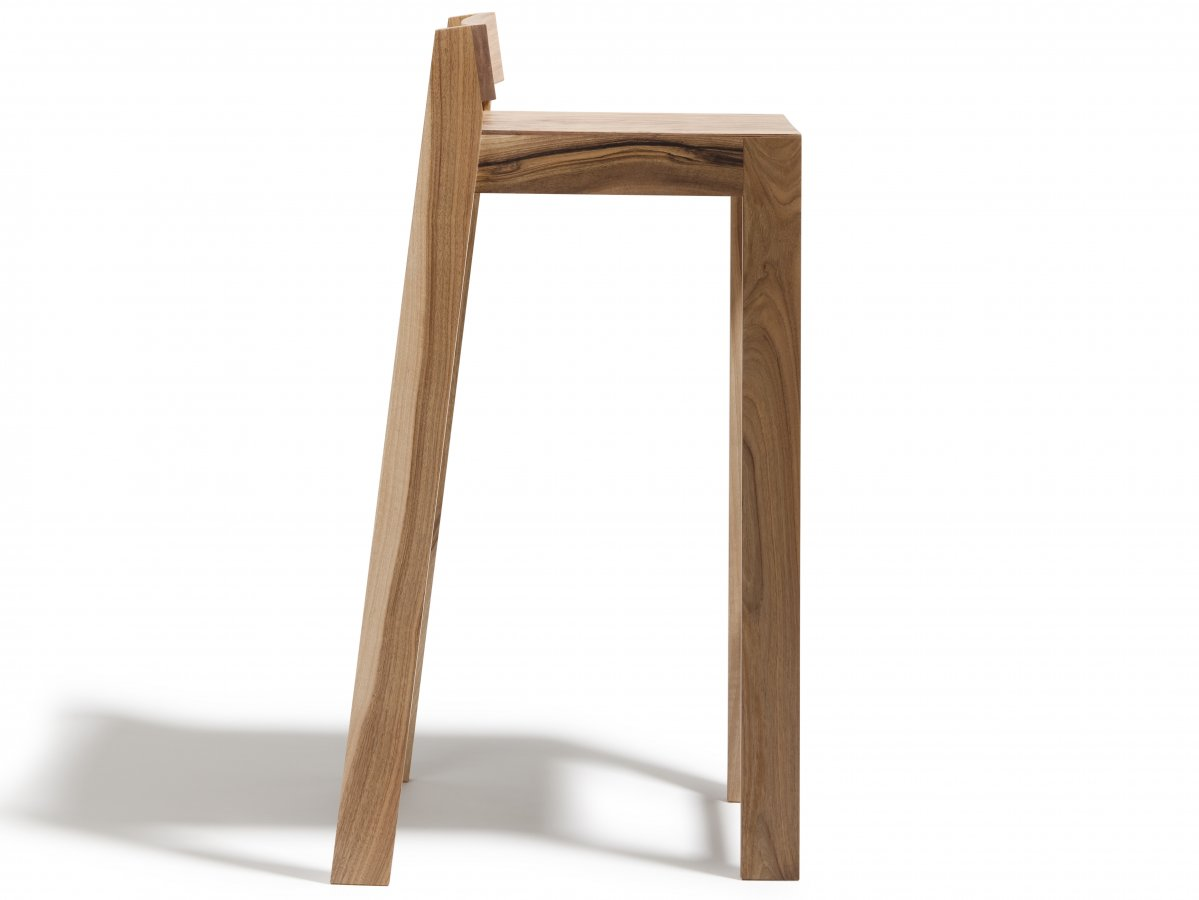 tabouret pilpil en noyer bois et design made in france delavelle. Black Bedroom Furniture Sets. Home Design Ideas