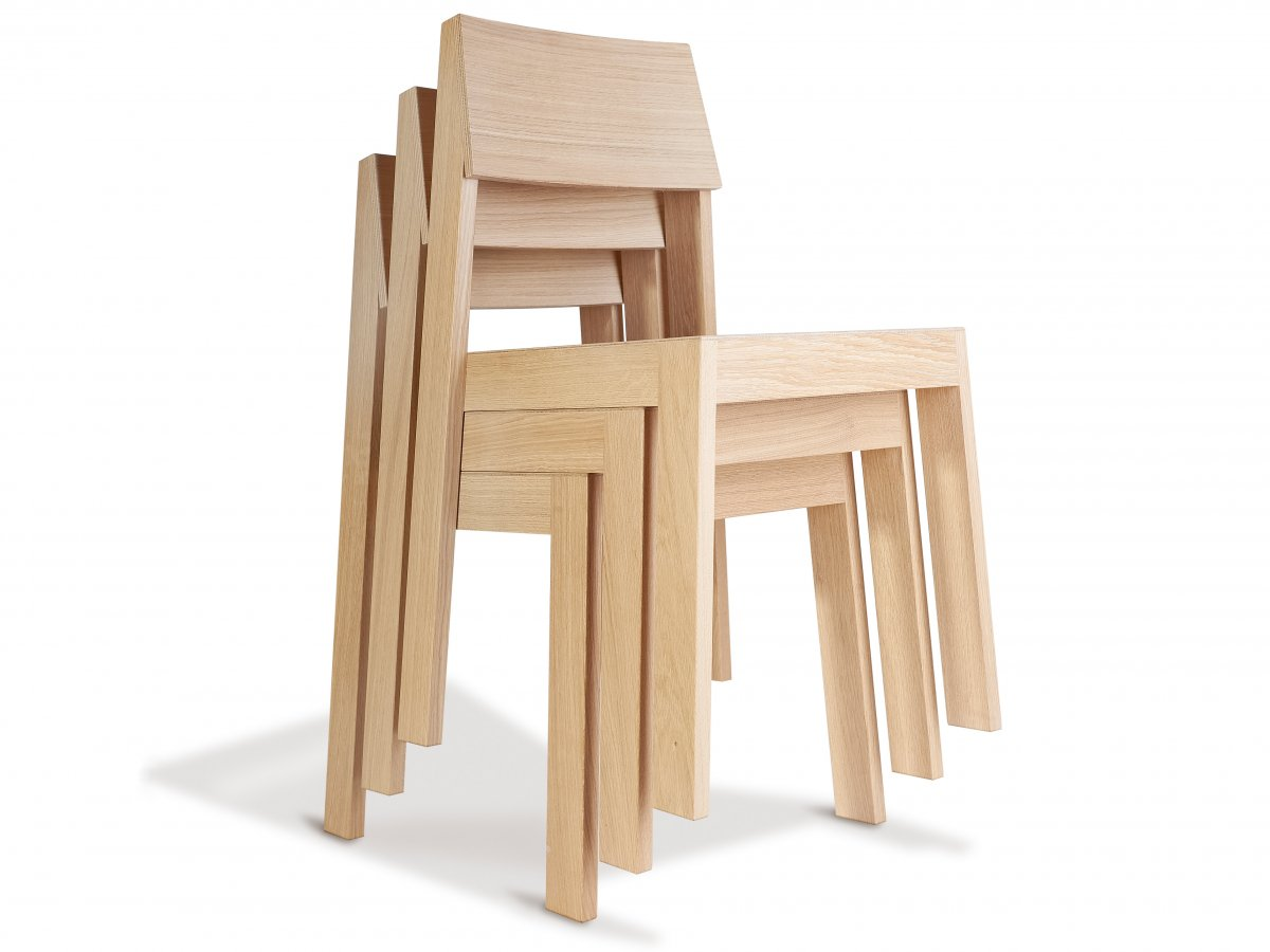 chaise pilpil en chne assise et dossier ergonomique - Chaise Chene