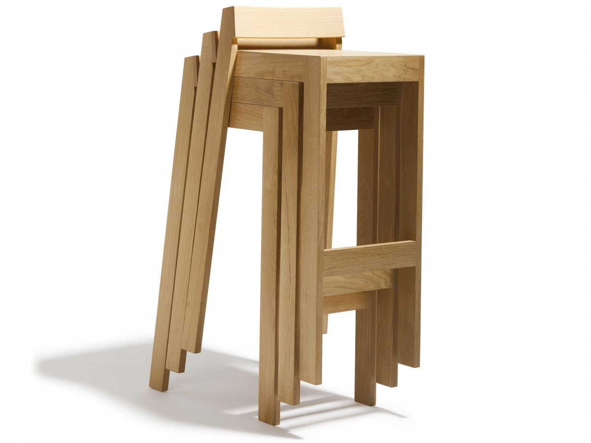 tabouret pilpil en ch ne bois et design made in france delavelle. Black Bedroom Furniture Sets. Home Design Ideas