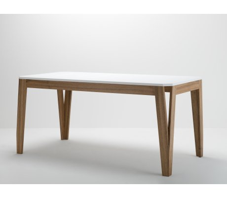 Table MéliMélo en noyer et résine - bois et design made in France