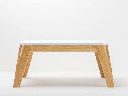 Table basse noyer massif design - Table basse bois massif design ...